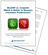 MaxDiff vs Conjoint   Which is Better to Measure Consumer Preferences White Paper resized 170